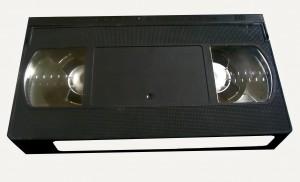 une cassette vidéo de format VHS