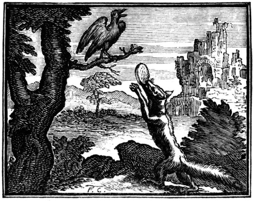 Illustration d'une fable de Jean de la Fontaine